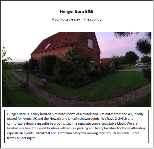 Hunger Barm B&B. A comfortable stay in the country